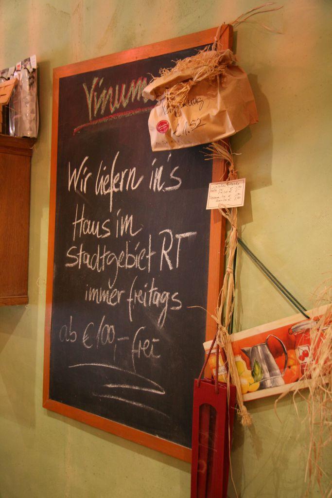 Vinum Reutlingen Lieferservice